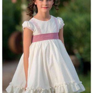 vestido ceremonia niña y niño a juego rosa