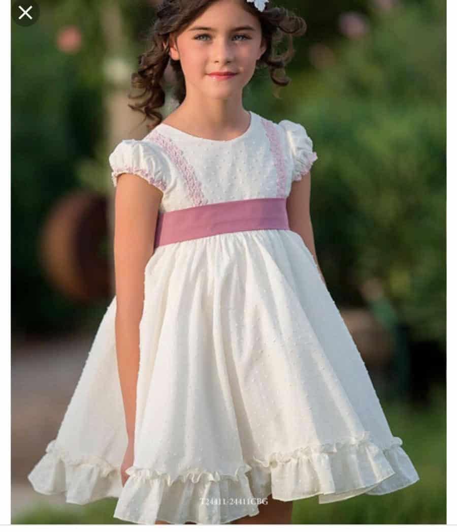 Vestido ceremonia nina rosa