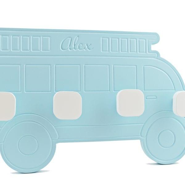 perchero personalizado de madera autobus