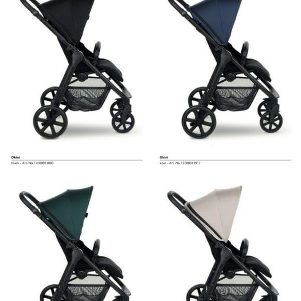 OKINI Silla de paseo 2020 XXL respaldo 60cm 4 colores