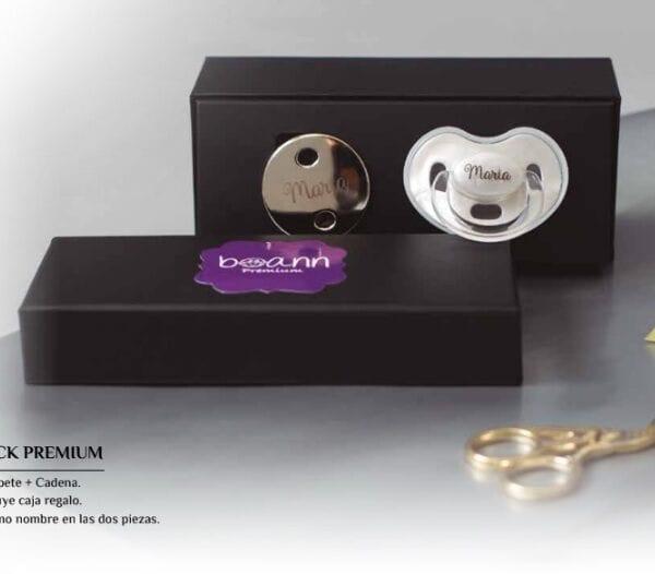 pack chupetes premium cadena con chupete personalizado