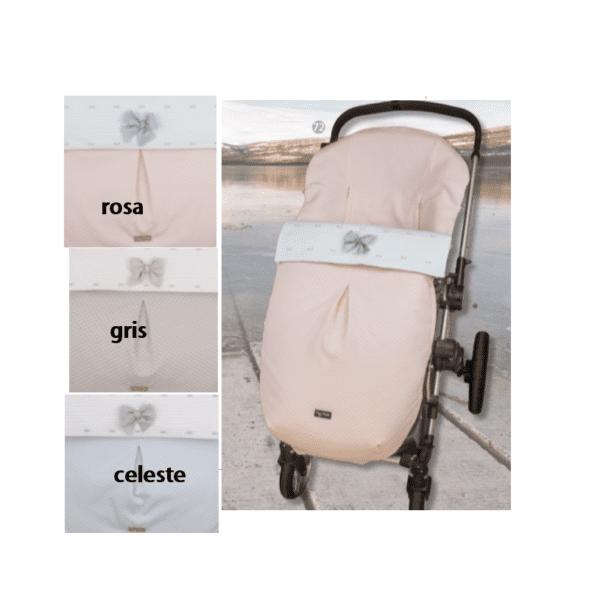 Saco de silla 718 Rosa gris celeste