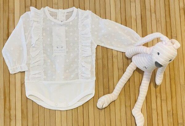 Camisa body volante blanco