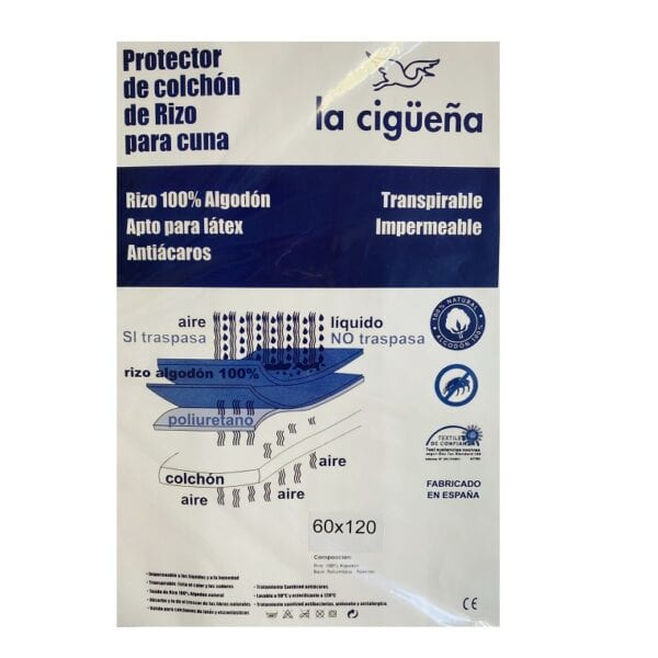 protector colchon impermeable cuna minicuna y coche
