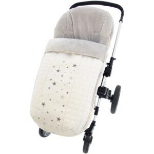 Saco de silla universal Aries pelo polar ecopiel Blanco Gris